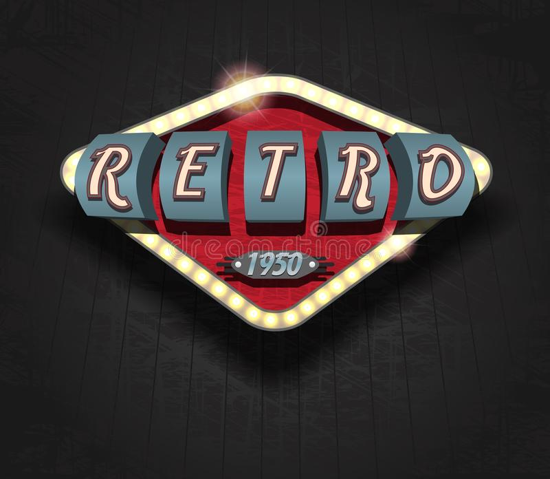 Retro icon - signboard. / Vector Poster royalty free illustration