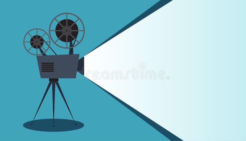 Retro icona del cinema con il posto del testo, illustrazione di vettore illustrazione vettoriale