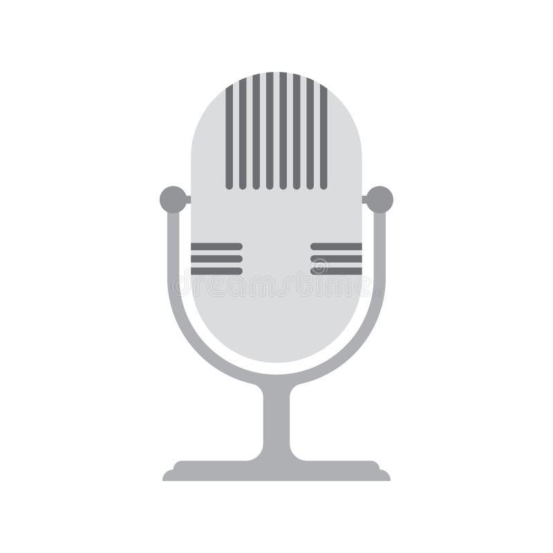 Retro icona del microfono royalty illustrazione gratis
