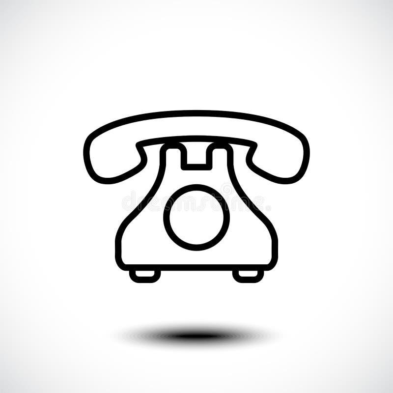 Retro icona del telefono Illustrazione di vettore fotografie stock