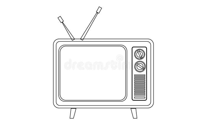 Retro icona della televisione immagine stock
