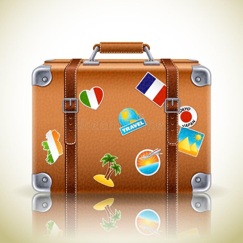 Retro icona della valigia illustrazione di stock