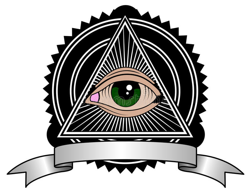 Retro Illuminati royalty-vrije illustratie