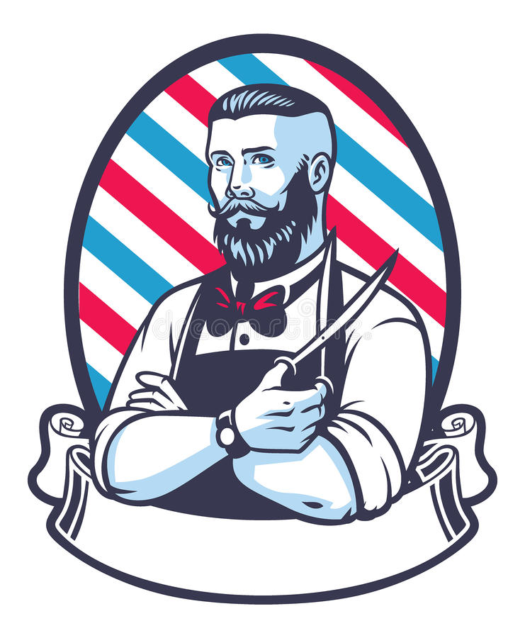 Free Retro Illustration Of Barber Man Royalty Free Stock Image - 56089586