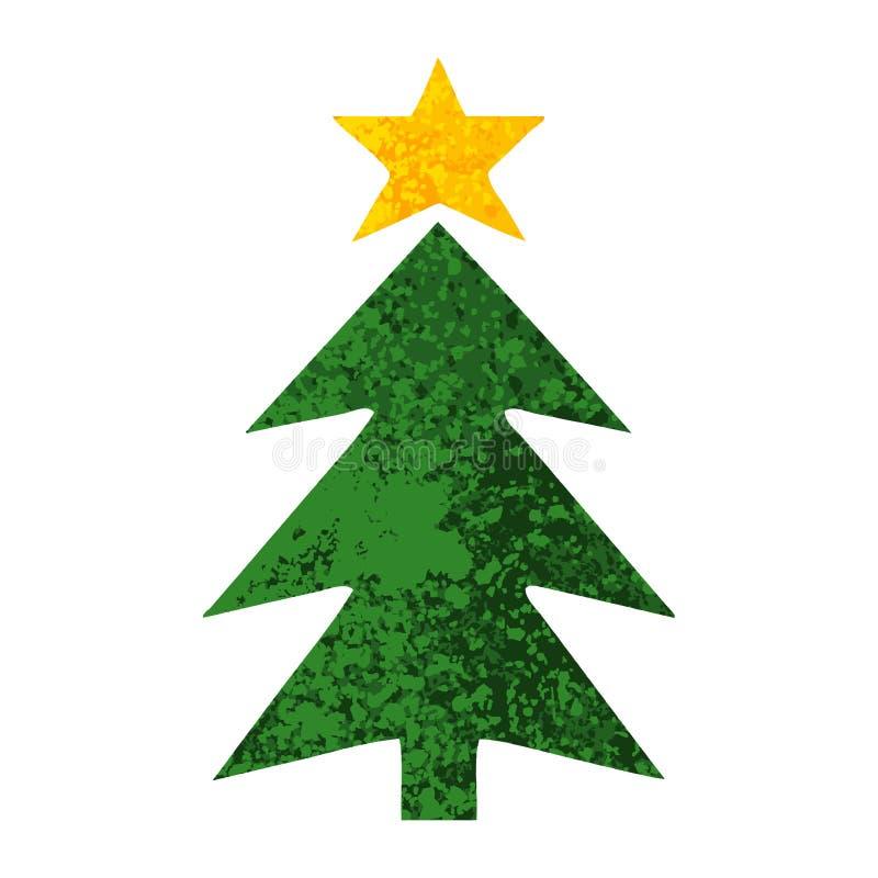 Cartoon Christmas Tree Holiday Celebration Cute Illustration
