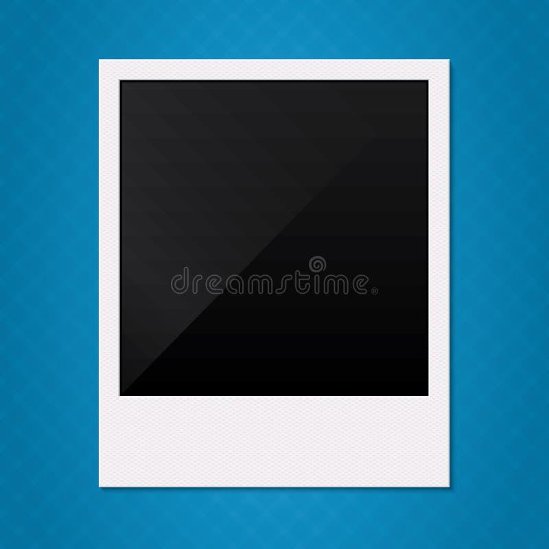 Retro illustrazione in bianco della struttura della foto della polaroid. illustrazione di stock