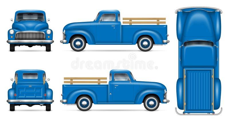 Retro illustrazione blu di vettore della raccolta illustrazione vettoriale
