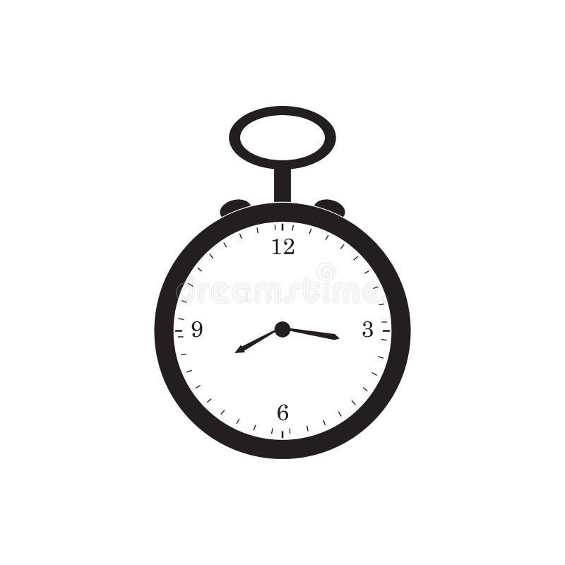 Retro illustrazione di progettazione di vettore dell'icona del nero dell'orologio da tasca royalty illustrazione gratis