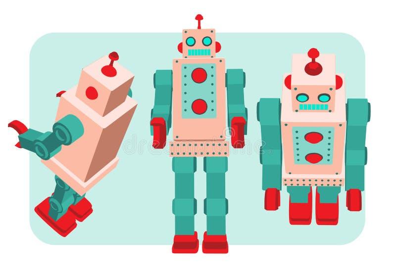 Retro illustrazione di vettore del robot royalty illustrazione gratis