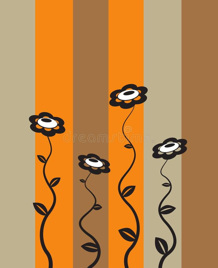 Retro ilustracja kwiatu projekta tapety tło ilustracji