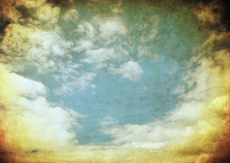 Retro immagine del cielo nuvoloso fotografia stock