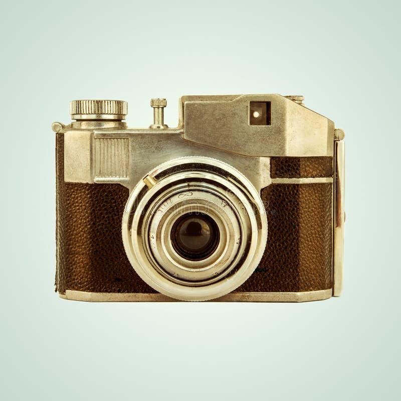 Retro immagine disegnata di una macchina fotografica d'annata della foto fotografia stock