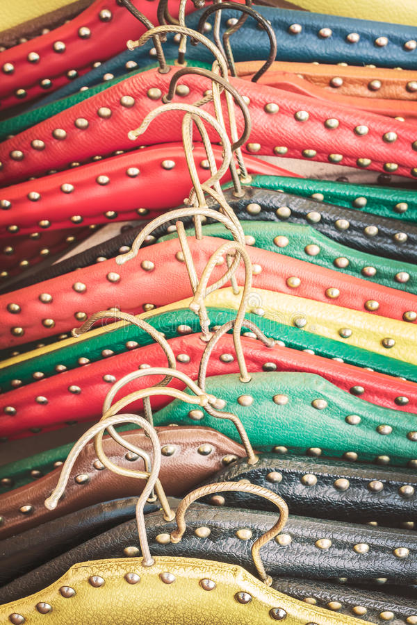 Retro immagine disegnata di vecchi ganci di vestito fotografia stock