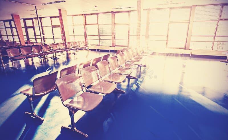 Retro immagine filtrata di sala di attesa fotografia stock