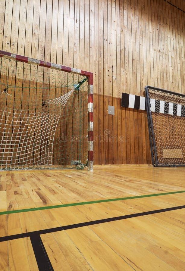 Download Retro Indoor Soccer Goal Stock Image. Image Of Hoop, Hardwood    60953037