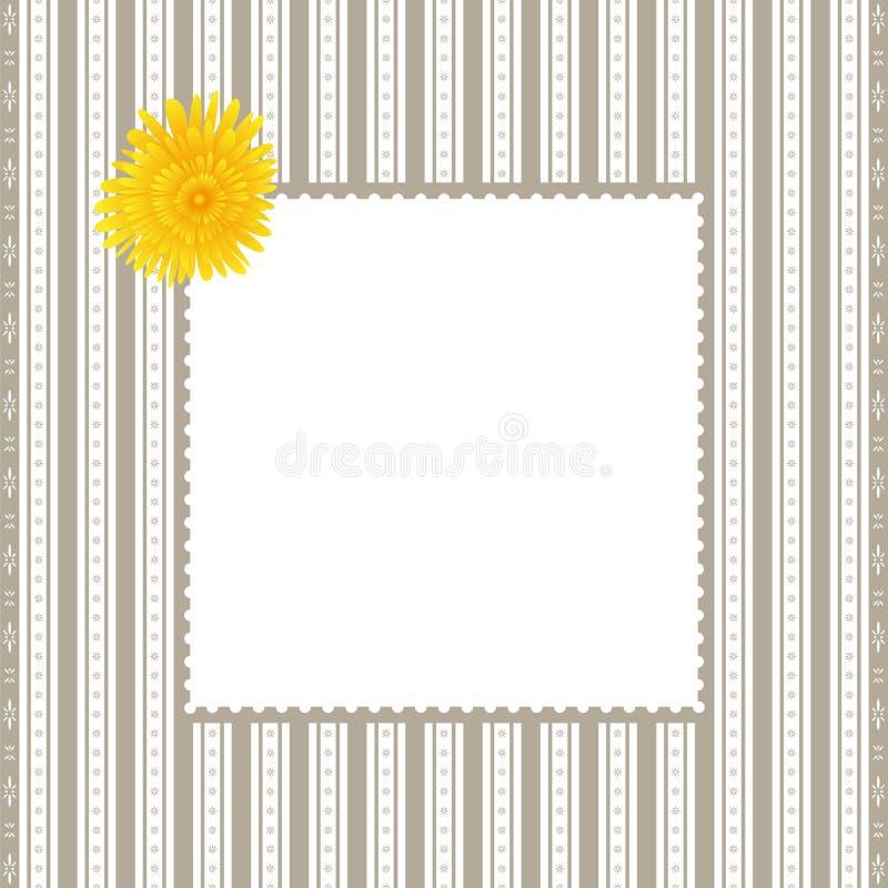 Retro inrama med blommor vektor illustrationer