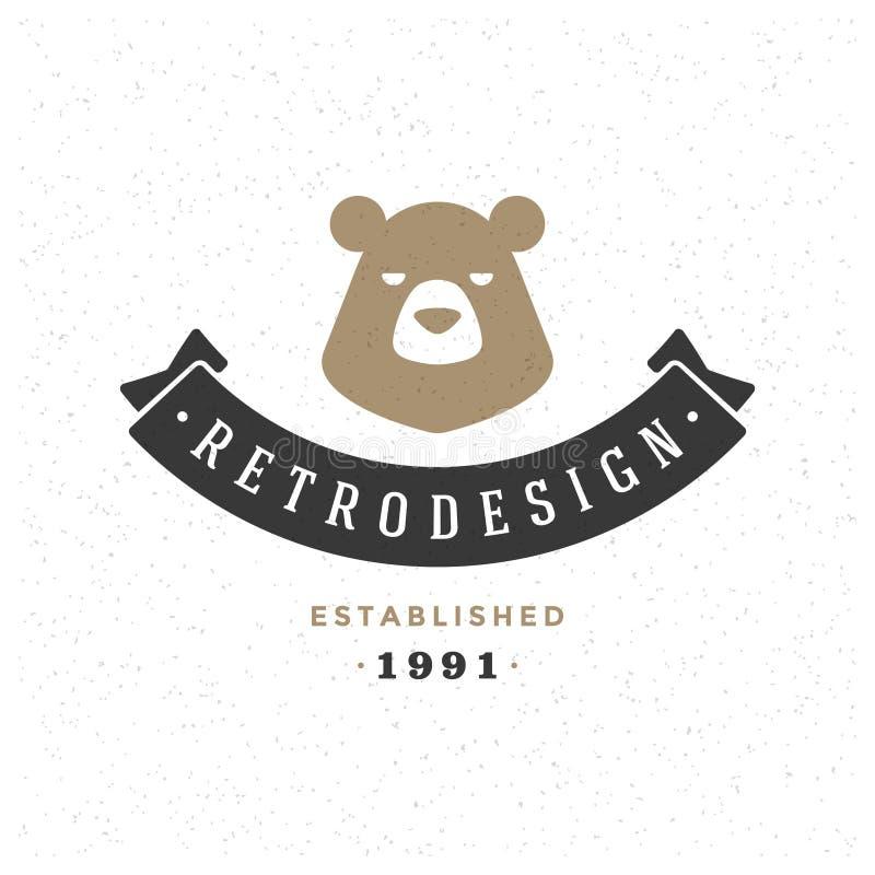 Retro insegne o progettazione d'annata di vettore del Logotype illustrazione vettoriale