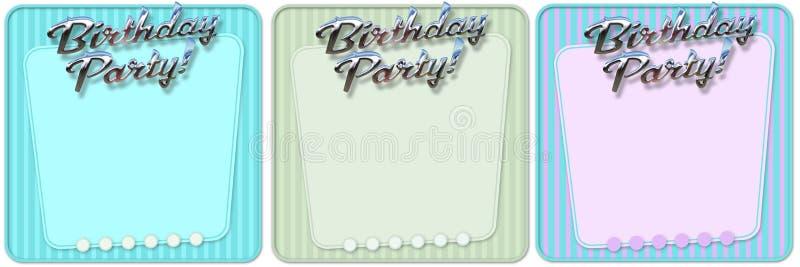 Retro invito della festa di compleanno illustrazione vettoriale