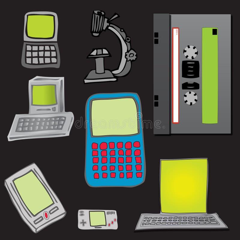 Retro Inzameling van Technologie vector illustratie