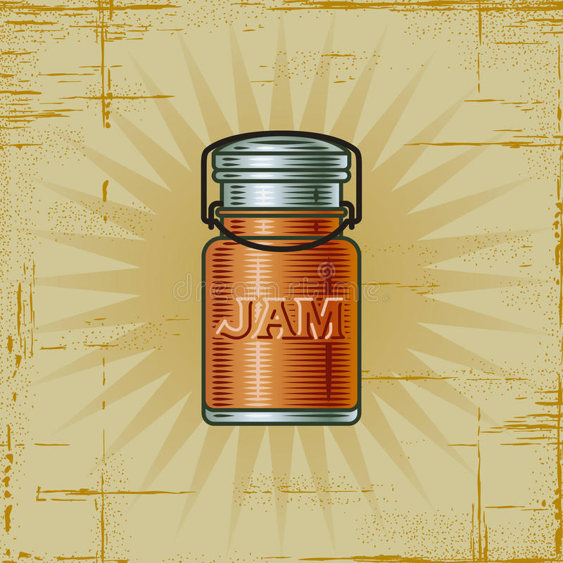 Retro Jam Jar stock illustration