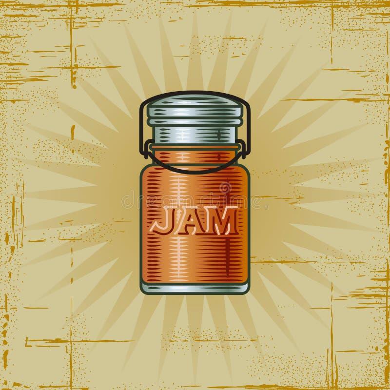 Retro Jampot stock illustratie