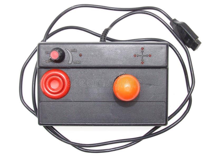 Retro joystick. Top view of a retro joystick isolated on white background stock images