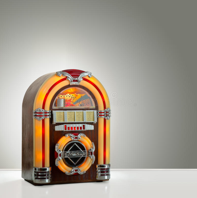 Retro jukebox arkivbild