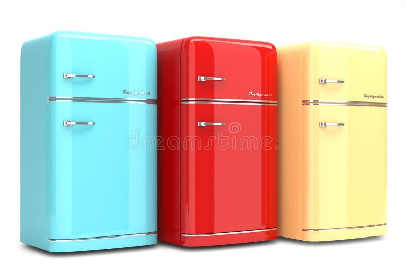 Retro- Kühlschränke stock abbildung. Illustration von haus - 38129359