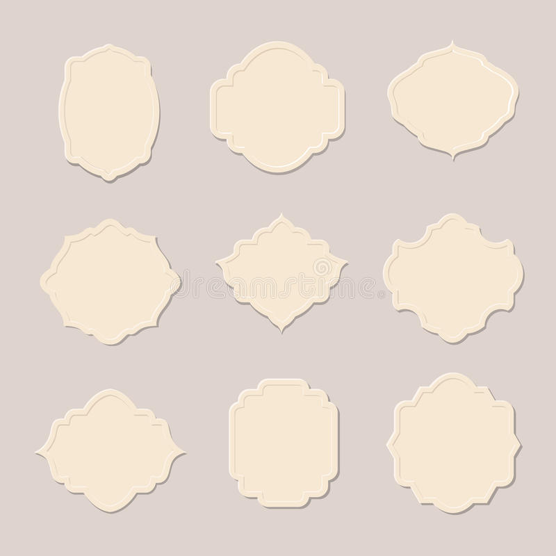 Retro kadersinzameling in uitstekende stijl stock illustratie