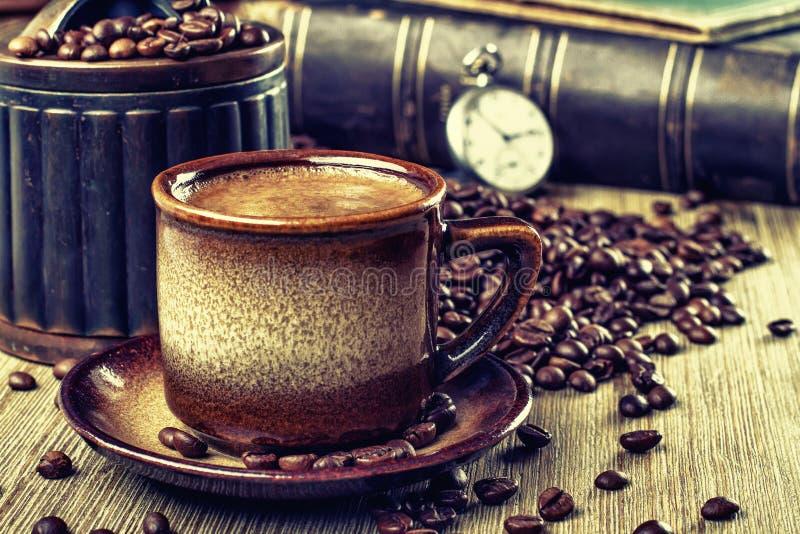 Retro- Kaffee lizenzfreie stockbilder