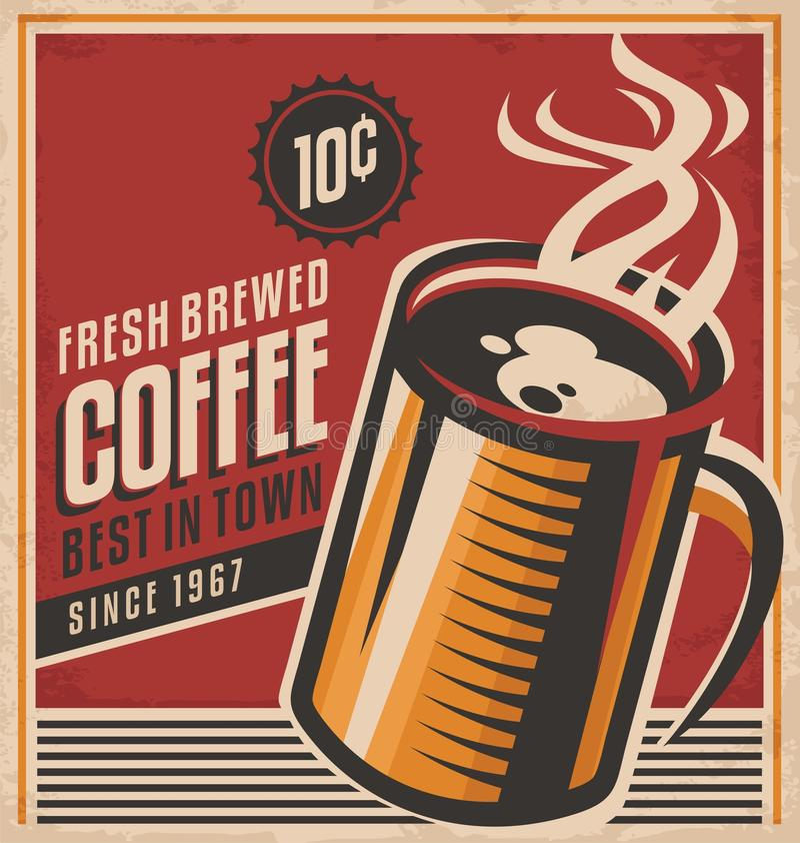 Retro- Kaffee Plakat lizenzfreie abbildung