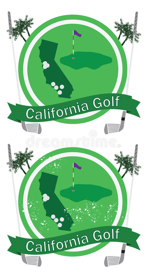 Retro- Kalifornien-Golf stock abbildung