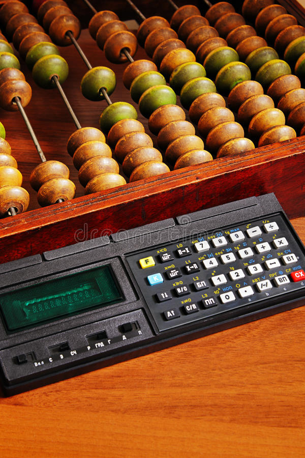 Retro kalkulatorzy zdjęcie stock