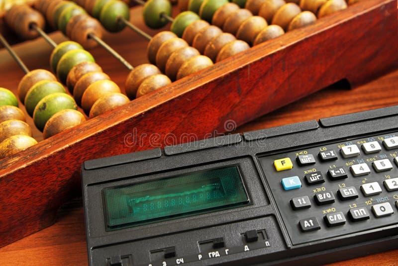 Retro kalkulatorzy fotografia royalty free