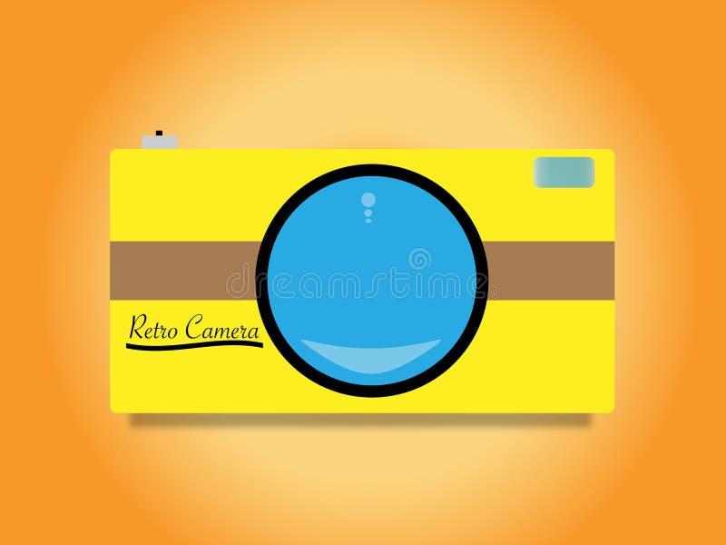 Retro kamera vektor illustrationer