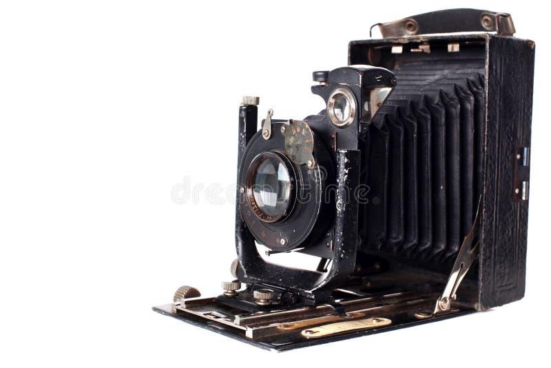 Retro- Kamera getrennt auf Weiß stockfotografie