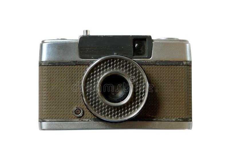 Retro kamera odizolowywa na bielu (ścinek ścieżka) zdjęcia stock