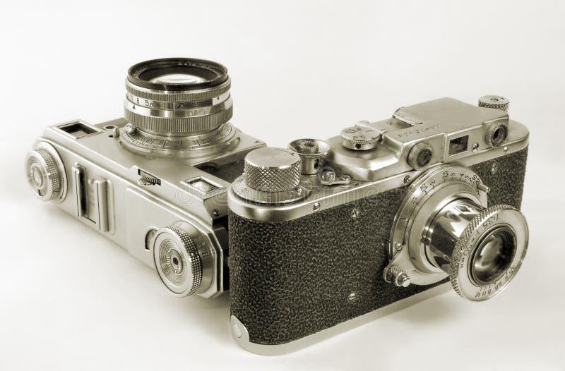Retro- Kameras. stockfotografie