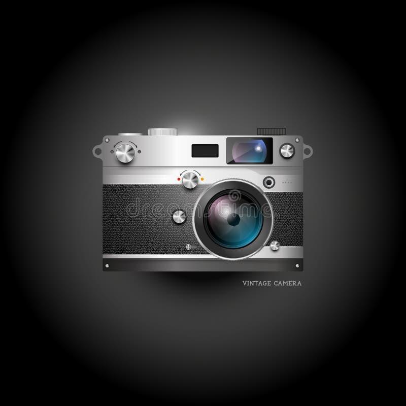 Retro kamery ikona ilustracji