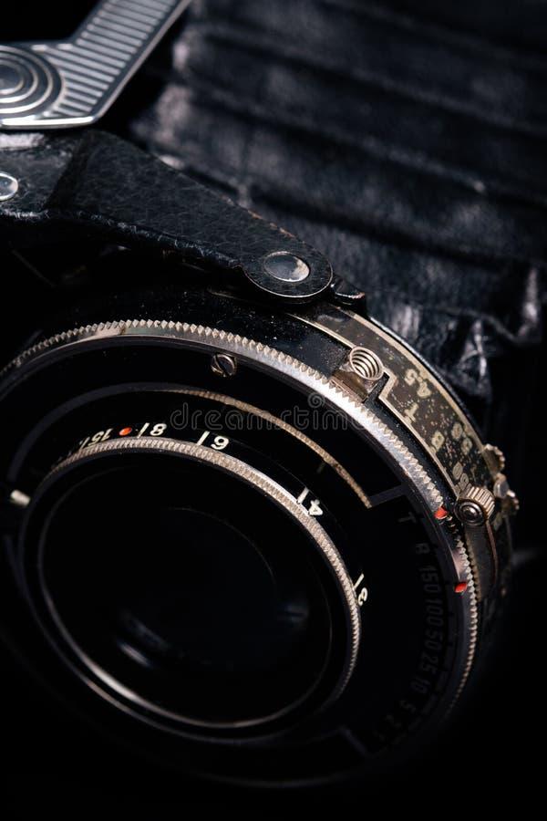 Retro kamery obiektywu close-up zdjęcie stock