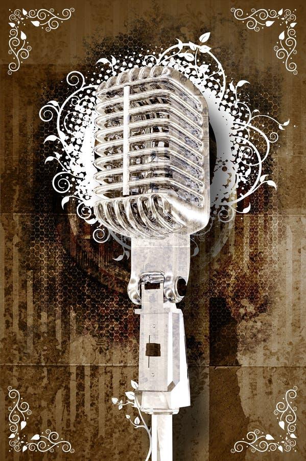 Retro Karaoke vector illustratie