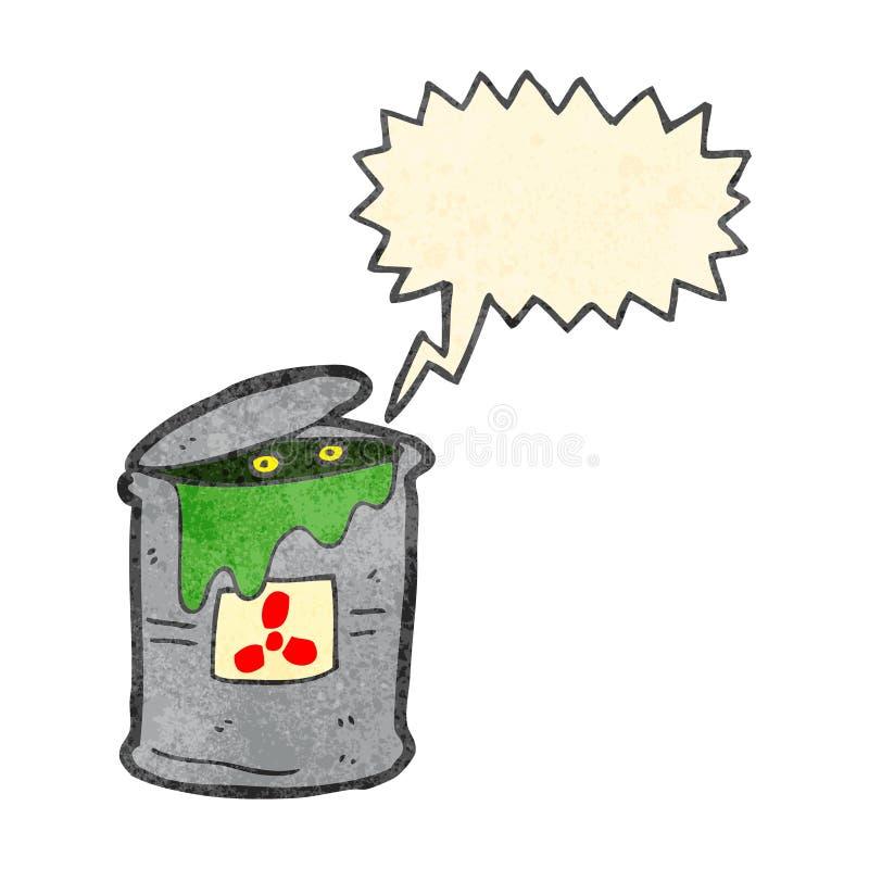 Retro- Karikaturmonster im Giftmüll lizenzfreie abbildung