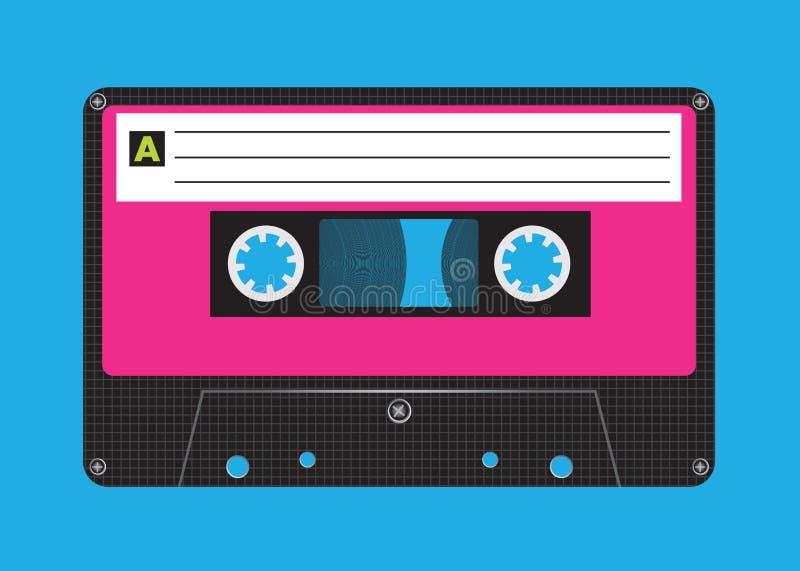 Retro- Kassette lizenzfreie abbildung