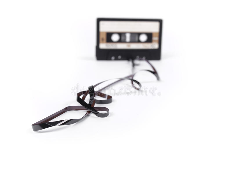 Retro- Kassette mit losem Band lizenzfreie stockfotografie