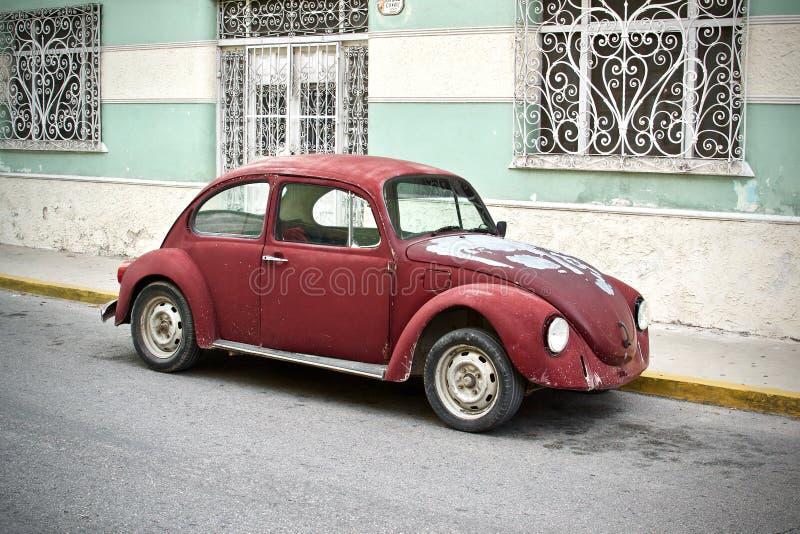 Retro- kastanienbraunes Volkswagen Beetle-Profil stockfoto