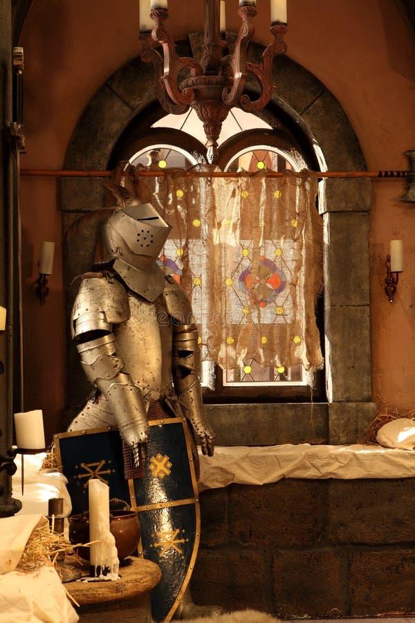 Retro kasteelbinnenland royalty-vrije stock foto