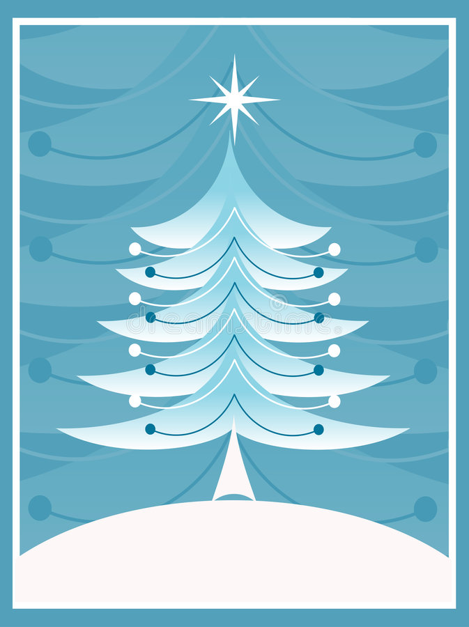 Retro Kerstmis vector illustratie