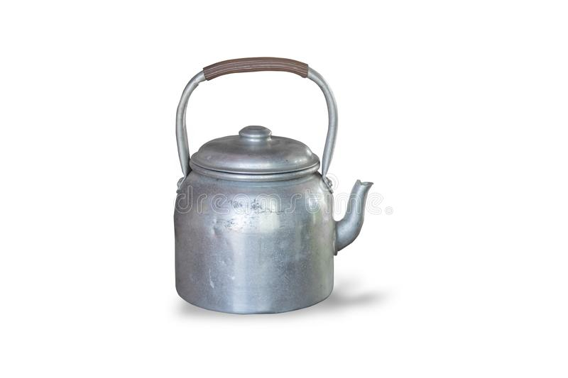 Retro kettle,isolated on white background. With clipping path stock photos