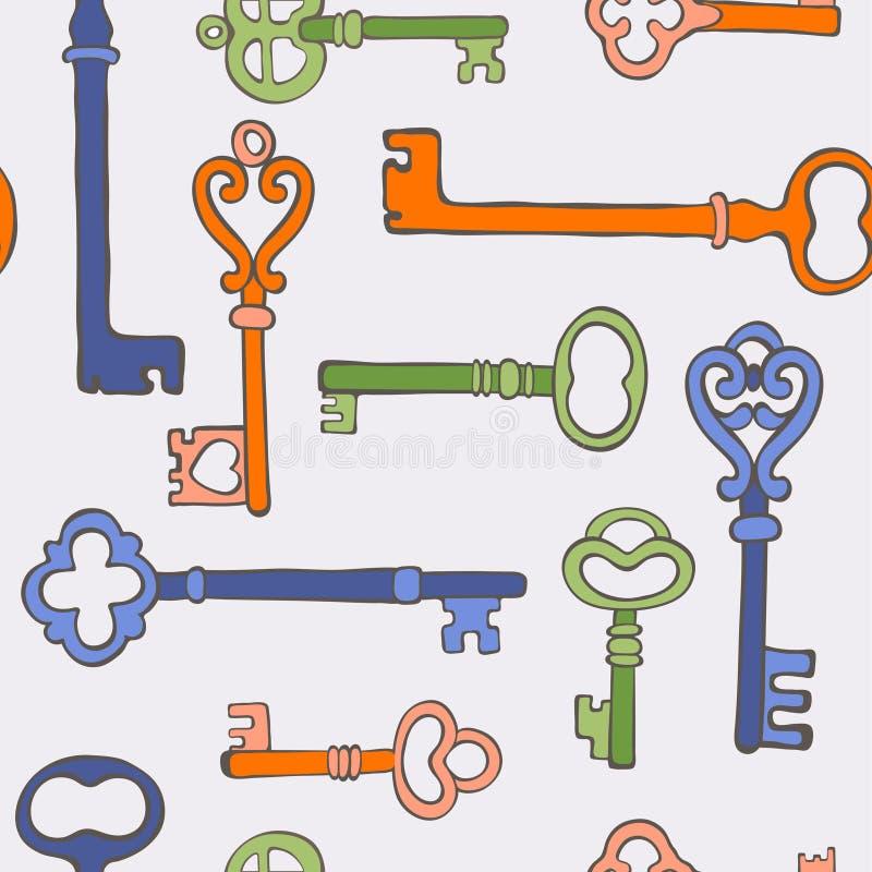 Retro keys stylish background. Colorful retro keys stylish background. vector illustration royalty free illustration