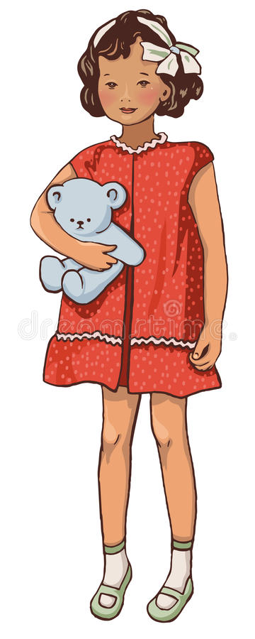 Download Retro kids stock vector. Image of dress, kids, funky - 28594024